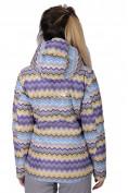 Оптом Куртка спортивная женская осень весна фиолетового цвета 1716F в Казани, фото 4
