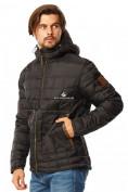 Оптом Куртка мужская стеганная черного цвета 1741Ch в Екатеринбурге, фото 3