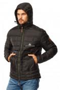 Оптом Куртка мужская стеганная черного цвета 1741Ch в Екатеринбурге, фото 5