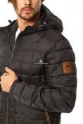 Оптом Куртка мужская стеганная черного цвета 1741Ch в Екатеринбурге, фото 6