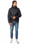 Оптом Куртка мужская стеганная темно-синего цвета 1741TS в  Красноярске