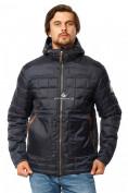 Оптом Куртка мужская стеганная темно-синего цвета 1741TS в  Красноярске, фото 3
