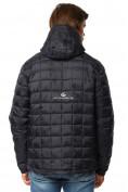 Оптом Куртка мужская стеганная темно-синего цвета 1741TS в  Красноярске, фото 4
