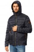 Оптом Куртка мужская стеганная темно-синего цвета 1741TS в  Красноярске, фото 5