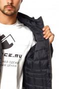 Оптом Куртка мужская стеганная темно-синего цвета 1741TS в  Красноярске, фото 7