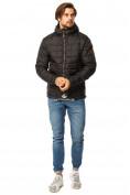 Оптом Куртка мужская стеганная черного цвета 1741Ch в Екатеринбурге