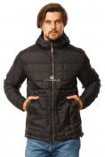 Оптом Куртка мужская стеганная черного цвета 1741Ch в Екатеринбурге, фото 2