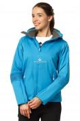 Оптом Куртка спортивная женская осень весна голубого цвета 1752Gl в Казани