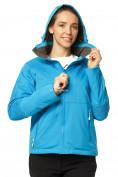 Оптом Куртка спортивная женская осень весна голубого цвета 1752Gl в Казани, фото 4