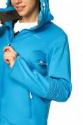 Оптом Куртка спортивная женская осень весна голубого цвета 1752Gl в Казани, фото 3