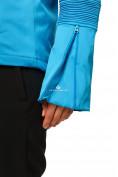 Оптом Куртка спортивная женская осень весна голубого цвета 1752Gl в Казани, фото 2