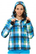 Оптом Куртка горнолыжная женская голубого цвета 1807Gl в  Красноярске