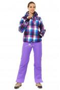 Оптом Костюм горнолыжный женский фиолетового цвета 01807F в Воронеже