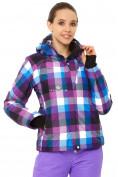 Оптом Куртка горнолыжная женская фиолетового цвета 1807F в Казани