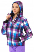 Оптом Куртка горнолыжная женская фиолетового цвета 1807F в  Красноярске, фото 4