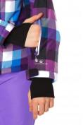 Оптом Куртка горнолыжная женская фиолетового цвета 1807F в  Красноярске, фото 6