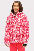 Оптом Куртка горнолыжная подростковая для девочки розового цвета 1773R в Казани