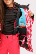 Оптом Куртка горнолыжная подростковая для девочки розового цвета 1773R в Казани, фото 7