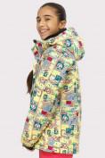 Оптом Куртка горнолыжная подростковая для девочки желтого цвета 1774J в Екатеринбурге, фото 2