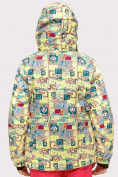 Оптом Куртка горнолыжная подростковая для девочки желтого цвета 1774J в Екатеринбурге, фото 3
