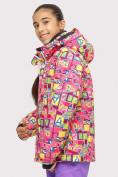 Оптом Куртка горнолыжная подростковая для девочки розового цвета 1774-1R в Екатеринбурге, фото 2
