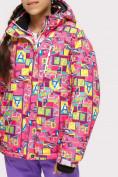 Оптом Куртка горнолыжная подростковая для девочки розового цвета 1774-1R в Екатеринбурге, фото 4