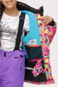 Оптом Куртка горнолыжная подростковая для девочки розового цвета 1774-1R в Екатеринбурге, фото 5