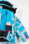 Оптом Куртка горнолыжная подростковая для девочки голубого цвета 1774Gl, фото 4