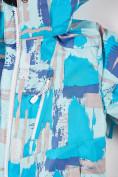 Оптом Костюм горнолыжный для девочки голубого цвета 01774Gl, фото 6