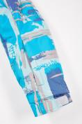 Оптом Костюм горнолыжный для девочки голубого цвета 01774Gl, фото 7