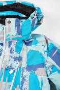Оптом Куртка горнолыжная подростковая для девочки голубого цвета 1774Gl, фото 7