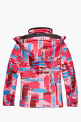 Оптом Куртка горнолыжная подростковая для девочки розового цвета 1774R, фото 2