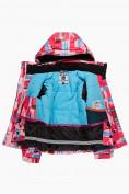 Оптом Куртка горнолыжная подростковая для девочки розового цвета 1774R, фото 3