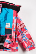 Оптом Куртка горнолыжная подростковая для девочки розового цвета 1774R, фото 4
