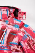 Оптом Куртка горнолыжная подростковая для девочки розового цвета 1774R, фото 7