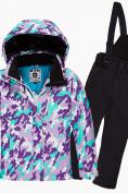 Оптом Костюм горнолыжный для девочки фиолетового цвета 01774F