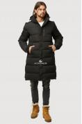 Оптом Куртка зимняя удлиненная мужская черного цвета 1780Ch в Воронеже