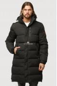 Оптом Куртка зимняя удлиненная мужская черного цвета 1780Ch в Воронеже, фото 2