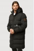 Оптом Куртка зимняя удлиненная мужская черного цвета 1780Ch в Воронеже, фото 3