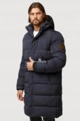 Оптом Куртка зимняя удлиненная мужская темно-синего цвета 1780TS в  Красноярске, фото 3