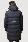 Оптом Куртка зимняя удлиненная мужская темно-синего цвета 1780TS в  Красноярске, фото 4