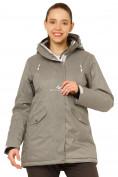 Оптом Куртка горнолыжная женская большого размера серого цвета 1783Sr в Екатеринбурге