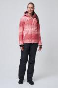 Оптом Костюм горнолыжный женский персикового цвета 01786P