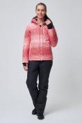 Оптом Костюм горнолыжный женский персикового цвета 01786P, фото 2