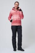 Оптом Костюм горнолыжный женский персикового цвета 01786P, фото 3