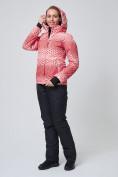 Оптом Костюм горнолыжный женский персикового цвета 01786P, фото 5