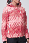 Оптом Куртка горнолыжная женская персикового цвета 1786P, фото 3
