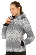 Оптом Куртка горнолыжная женская серого цвета 1786Sr, фото 2