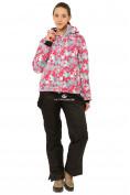 Оптом Костюм горнолыжный женский розового цвета 01787R в Екатеринбурге