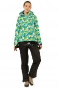 Оптом Костюм горнолыжный женский зеленого цвета 01787Z